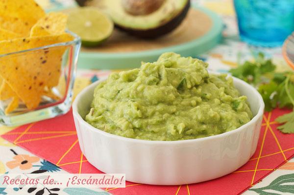 Receta de guacamole con Thermomix casero, la mas sabrosa y facil