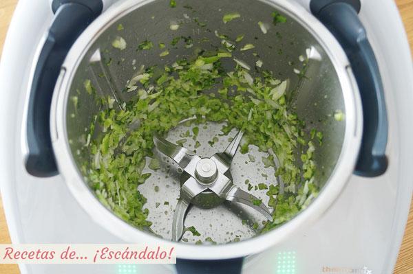 Verduras picadas guacamole