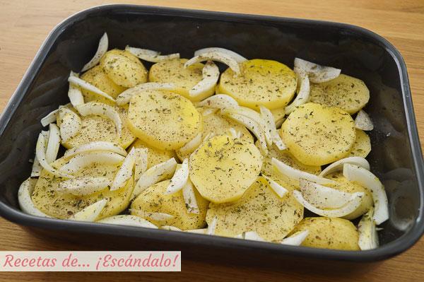 Guarnicion patatas y cebollas asado secreto iberico