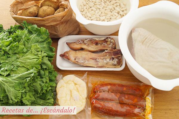 Ingredientes caldo gallego tradicional