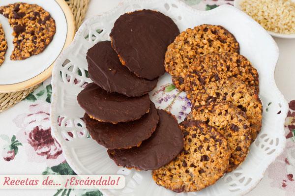 Como hacer galletas Moscovitas de almendra y chocolate caseras