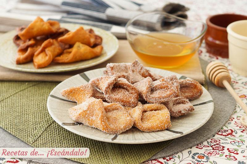 Pestinos caseros con miel o azucar y canela