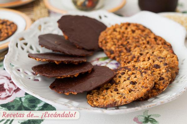 Receta de galletas Moscovitas de almendra y chocolate caseras