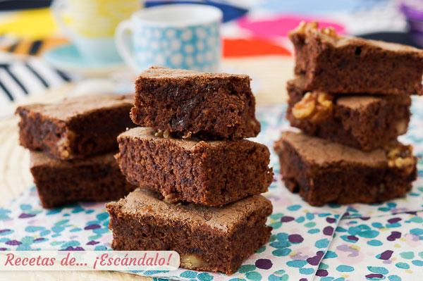 Receta de el mejor brownie con Thermomix, con nueces y humedo, delicioso