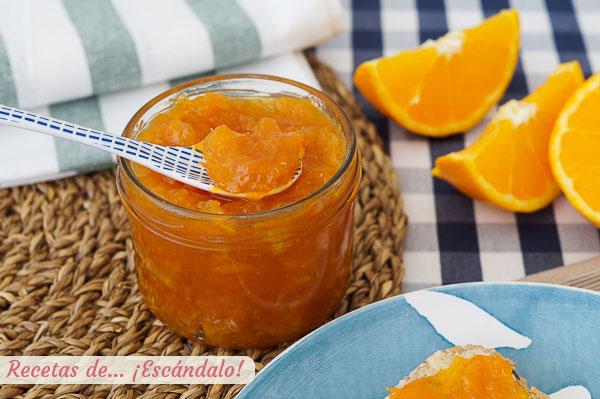 Como hacer mermelada de naranja casera amarga o no. Receta sencilla y de 10