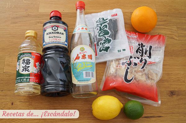Ingredientes salsa ponzu
