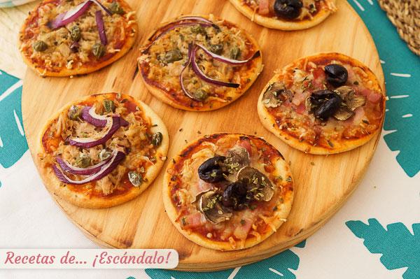Como hacer mini pizzas expres con masa casera rapida y 2 recetas para triunfar